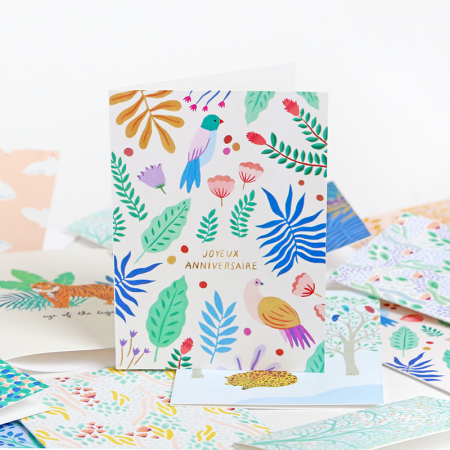 "Greeting Card ""Joyeux Anniversaire"""
