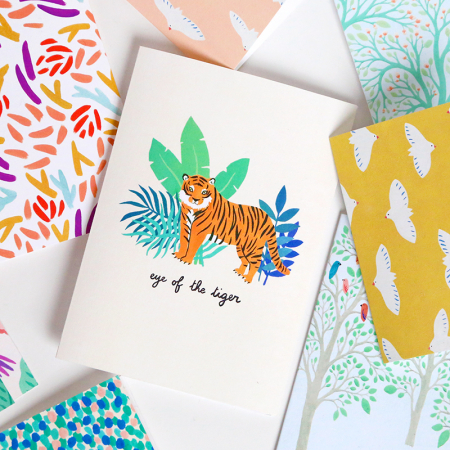 "NEW! Greeting Card ""Eye of the tiger"""