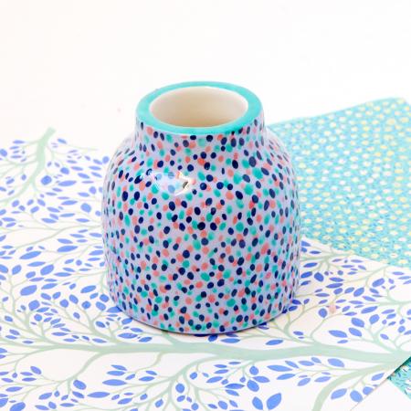 """Mini Vase """"Blue Rain"""""""