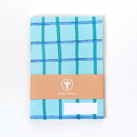 Little Notebook - Mint checkers