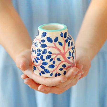 "Mini vase ""Feuillage du soir"""