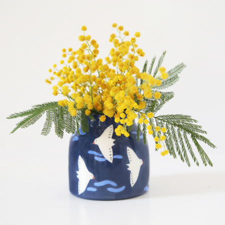 "Mini Vase ""Blue Migration"""