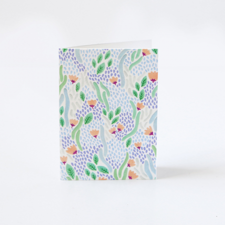 "Mini Greeting Card ""River of flowers"""