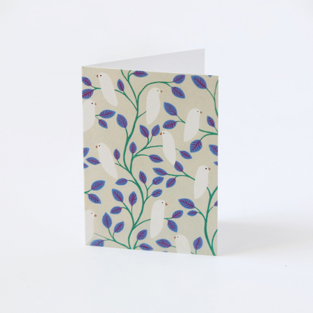 "Mini Greeting Card ""Birds and blue..."