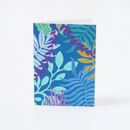 "Mini Greeting Card ""Blue Jungle"""