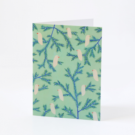 "Greeting Card ""Birds in the pines"""