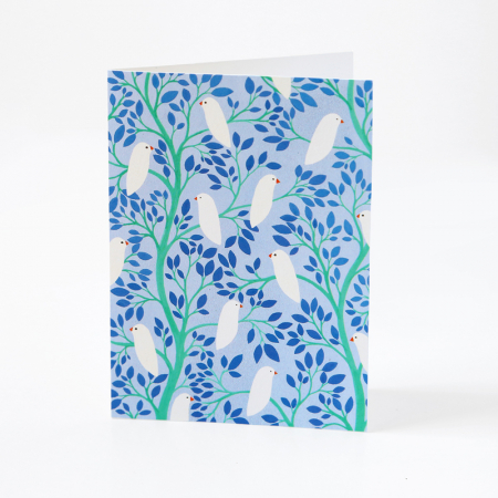 "Greeting Card ""Birds in the leaves"""