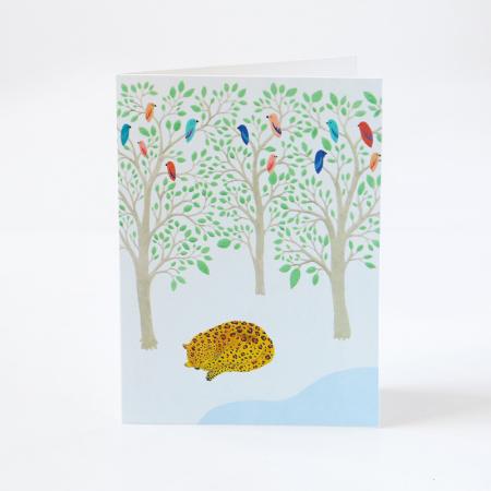 "Greeting Card ""Sleeping Leopard"""