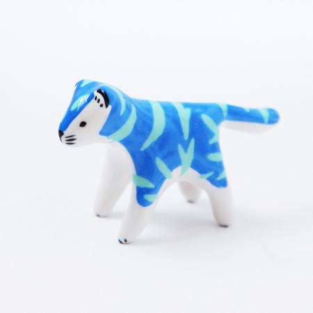 Mini tigre bleu et vert