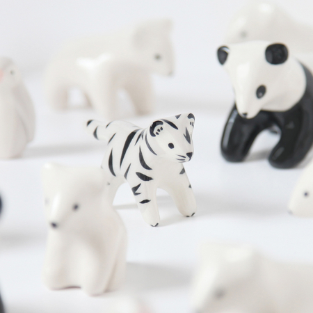 Mini tigre blanc