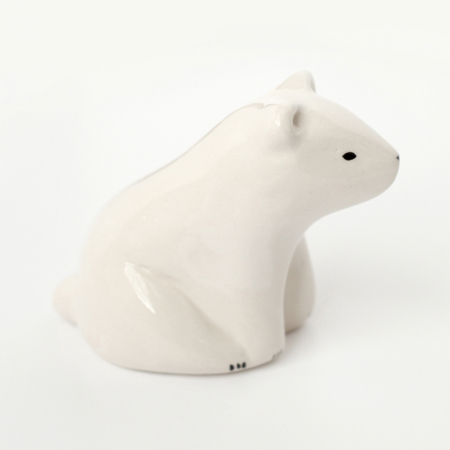 Seated White Bear