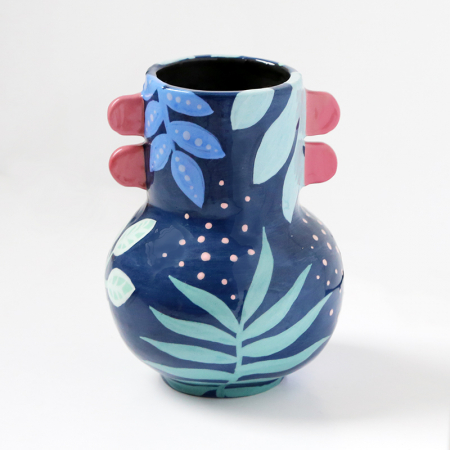 "Vase with ears ""Blue Jungle"""