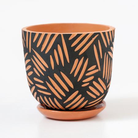 """Pot terracotta """"Mojave"""" + coupelle..."""